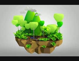 #23 untuk Create a 4 second 3D/4D floating island animation oleh hantig