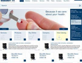 DarvinGarcia tarafından Design a WebGluco RX Websitesite Mockup için no 41