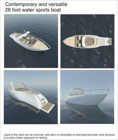 3D Modelling Contest Entry #15 for Concept Boat Design - 1 concept only