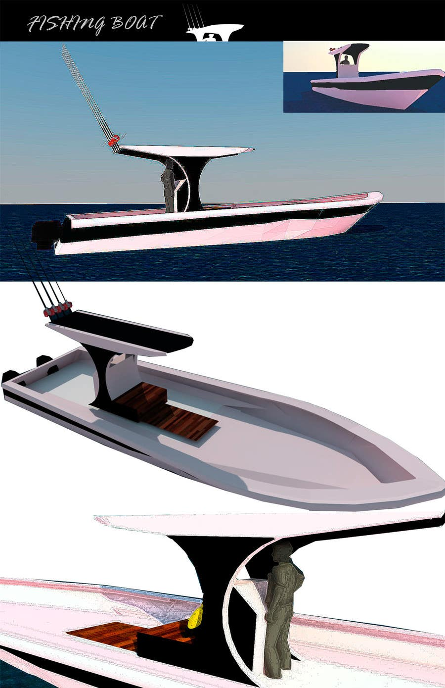 #8 for Concept Boat Design - 1 concept only by enriqueva