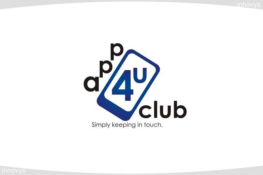 Kilpailutyö #446 kilpailussa Logo Design for App 4 u Club