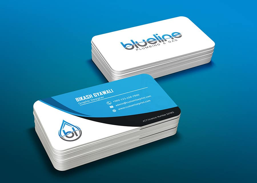 Entry 47 by fbpromoter2 for design some business cards and fridge contest entry 47 for design some business cards and fridge magnet for blueline plumbing colourmoves