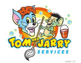 Nro 33 kilpailuun Design a Logo for Tom and Jarry Services - NB this logo must be based upon Tom and Jerry and include characters based on this. DO not submit unless this is done käyttäjältä andyiommi