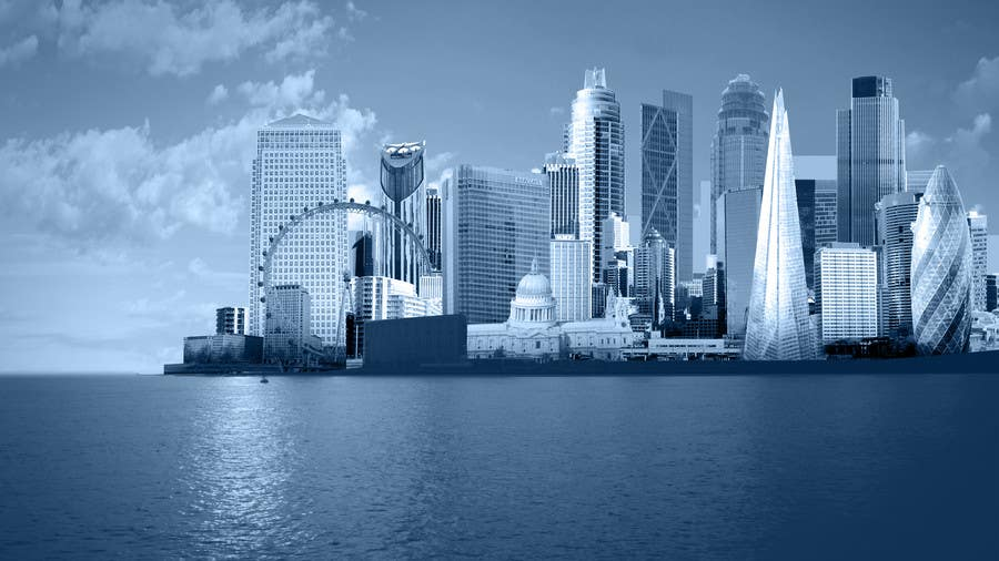 #18 for Create a composite landing page image of the London financial skyline by nishankumar