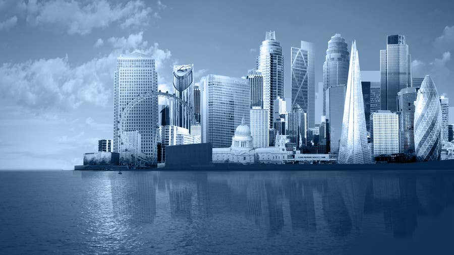 #46 for Create a composite landing page image of the London financial skyline by nishankumar