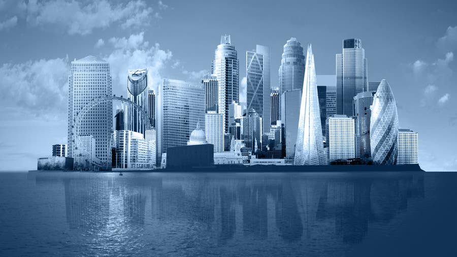 #47 for Create a composite landing page image of the London financial skyline by nishankumar