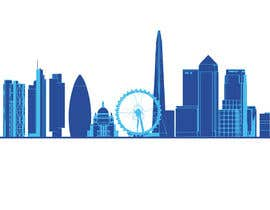nº 2 pour Create a composite landing page image of the London financial skyline par anamiruna
