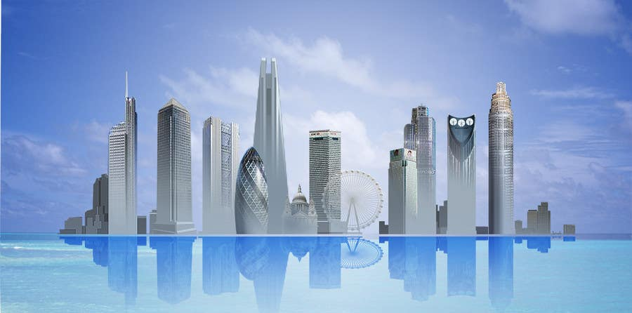 #49 for Create a composite landing page image of the London financial skyline by jingguo811