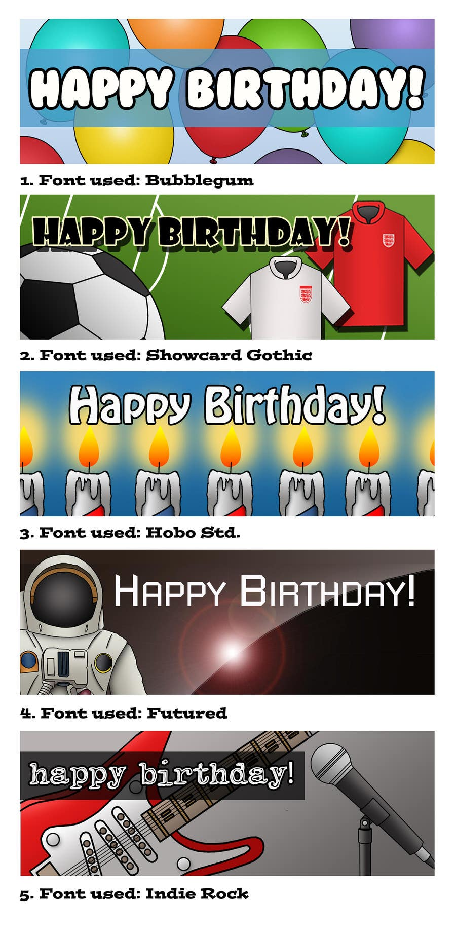 #3 for i need 5 designs for birthday banners by AdamSteve1984