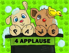 #101 para Logo Design for Paws 4 Applause Dog Grooming por mababangungutin
