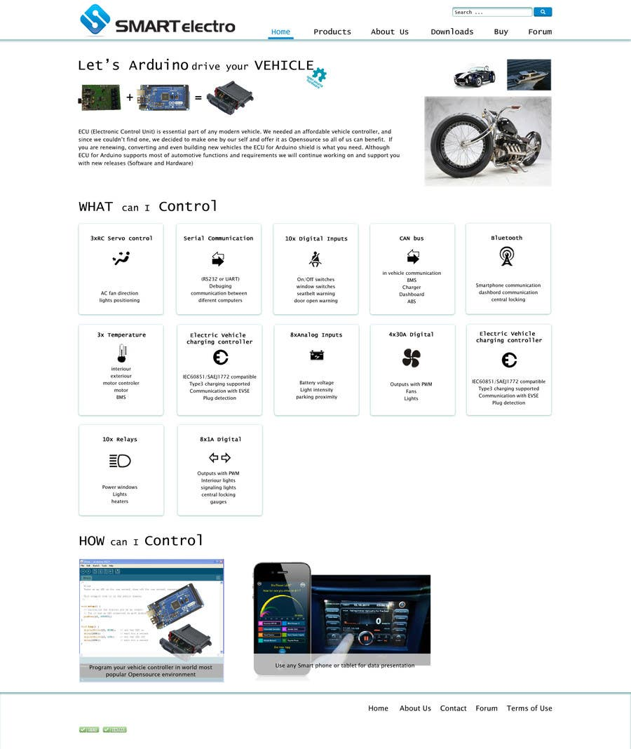 #2 for Design a Website Mockup electronics website by ivakorlevic