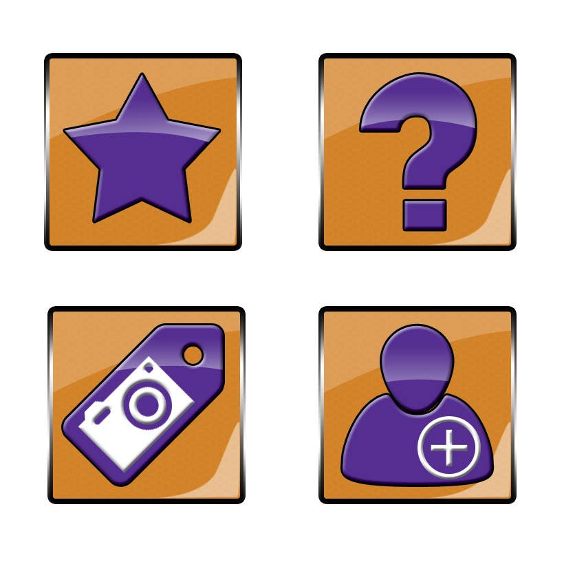 #2 for Design four Icons for a Photography Website by toderascnd