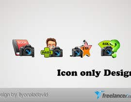 #25 untuk Design four Icons for a Photography Website oleh liyonaladavid