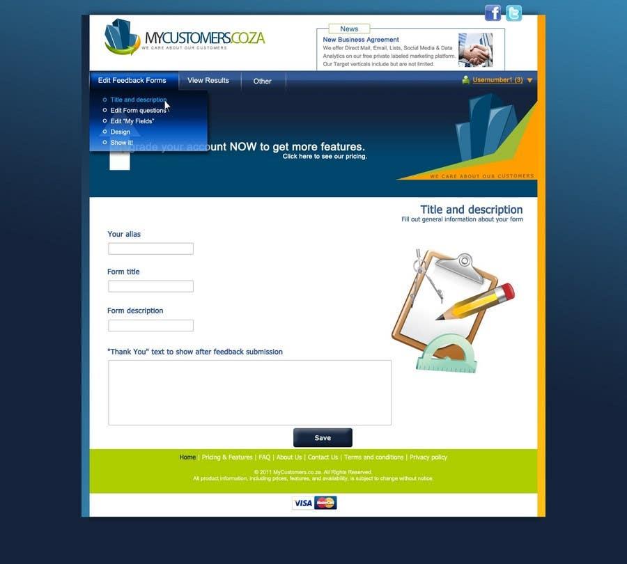 Конкурсная заявка №77 для Website Design for MyCustomers.co.za