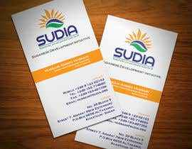 #20 for Business Card Design for SUDIA (Aka Sudanese Development Initiative) by StrujacAlexandru