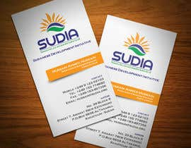#89 para Business Card Design for SUDIA (Aka Sudanese Development Initiative) por StrujacAlexandru