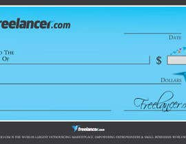 #7 for Design a novelty check for Freelancer.com by GeorgeOrf