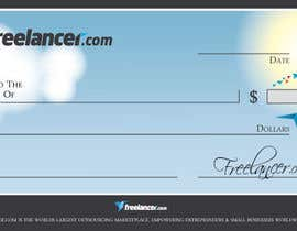 #9 for Design a novelty check for Freelancer.com by GeorgeOrf