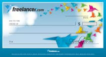 Design a novelty check for Freelancer.com için Graphic Design10 No.lu Yarışma Girdisi