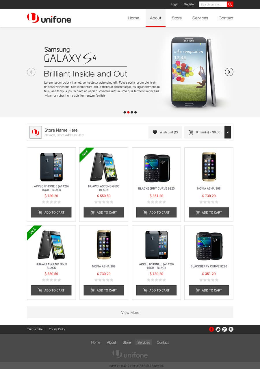 #62 for Design a strongly branded Mobile Phone Content Website by elshahat