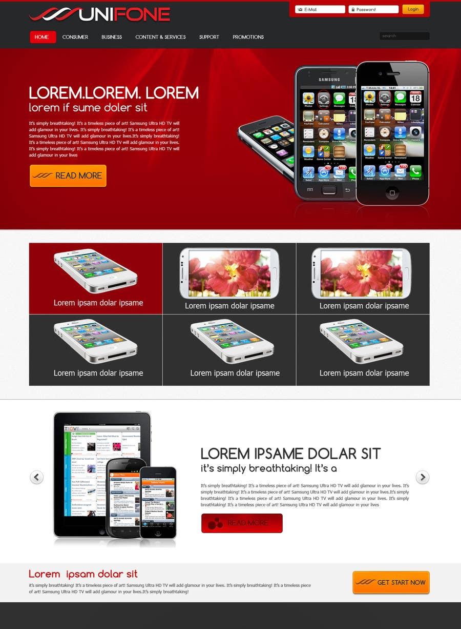 Design a strongly branded Mobile Phone Content Website için 36 numaralı Yarışma Girdisi