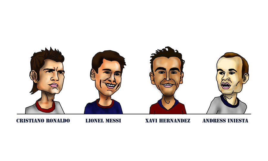 Proposition n°15 du concours Illustrations of 30 famous footballers