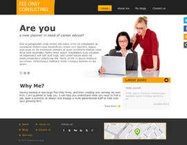 tania06 tarafından Design a Wordpress Mockup for a Certified Financial Planner Consulting Firm için no 52