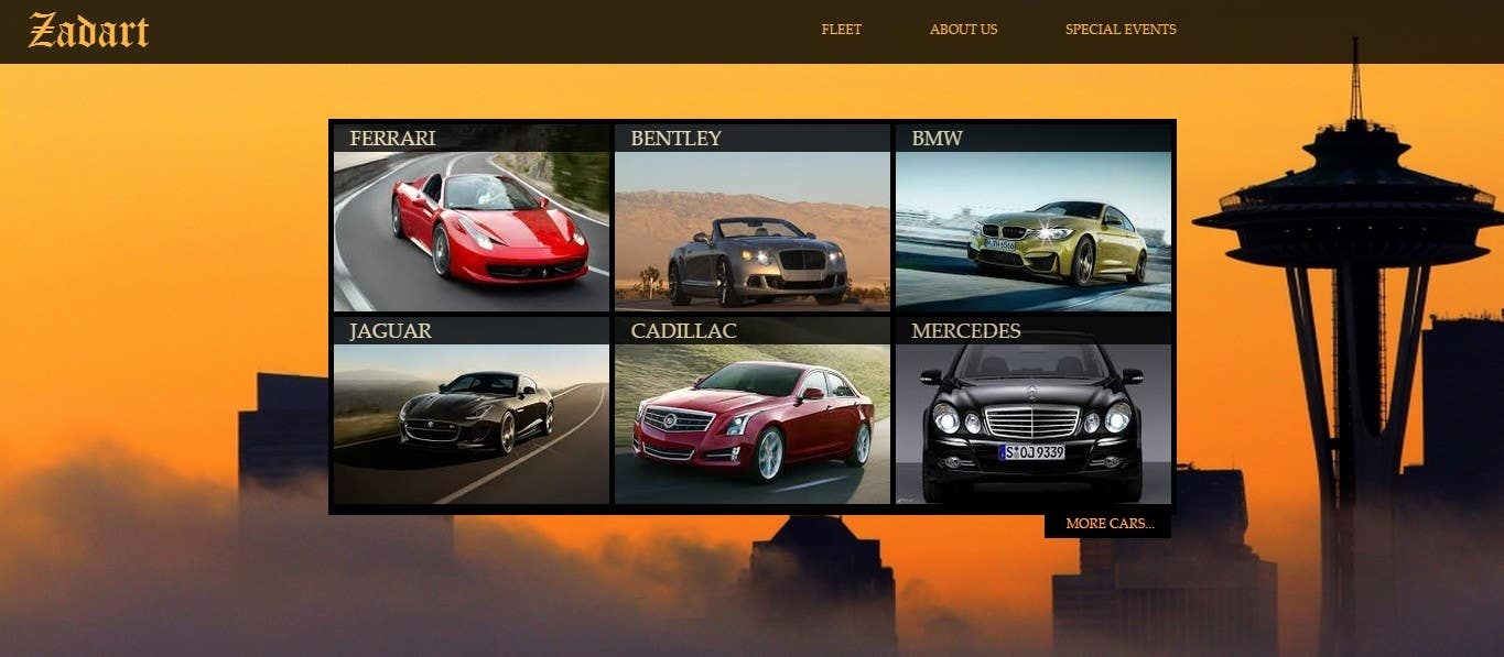 Entry 12 By Lents For Design And Implement A Luxury Car Rental