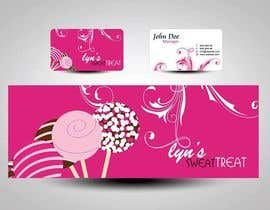 #116 para Business Card & Facebook Banner for Lyn's Sweet Treats por mamem