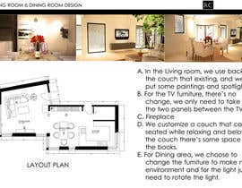 #9 for Interior design for living room and dining room af rikotan90