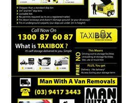 nº 8 pour Design an Advertisement for joint marketing - Mobile Skips / Man With a Van / Taxi Box par Manojm2
