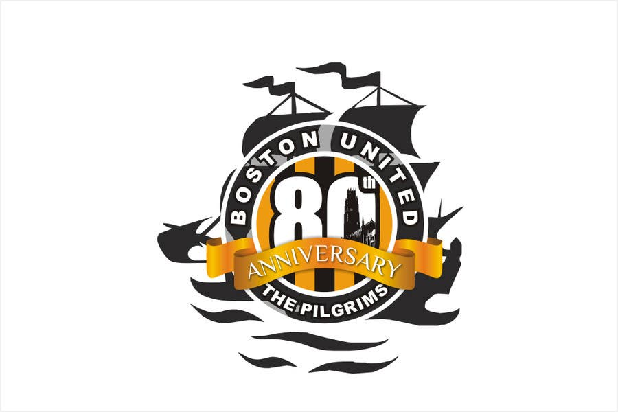 Proposition n°48 du concours Design a Logo for Boston United Football Club's 80th Anniversary