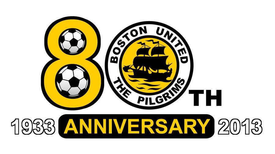 Bài tham dự cuộc thi #                                        10                                      cho                                         Design a Logo for Boston United Football Club's 80th Anniversary