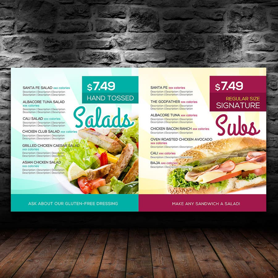 entry #29 by intanamir79 for i need graphic design for menu board
