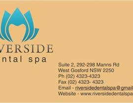 #9 untuk Design some Business Cards, Stationary and facebook banner/profile picture for Riverside Dental Spa oleh babaprops