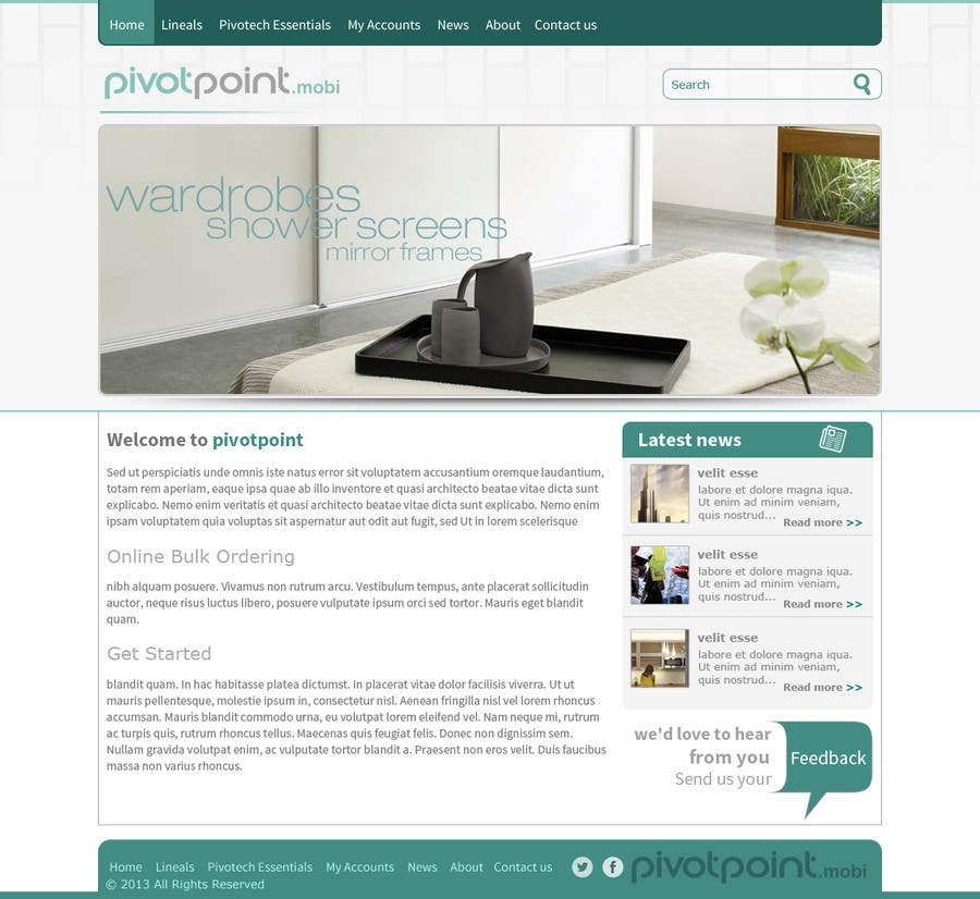 #18 for Design a Website Mockup for revitalization of our B2B customer resource by tania06