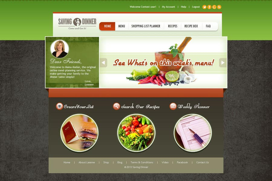 #35 for Design a Website Mockup for our Premium Menu-Mailer website. by aryamaity