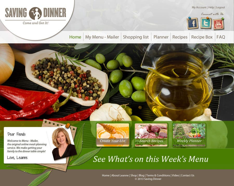#37 for Design a Website Mockup for our Premium Menu-Mailer website. by grafixeu