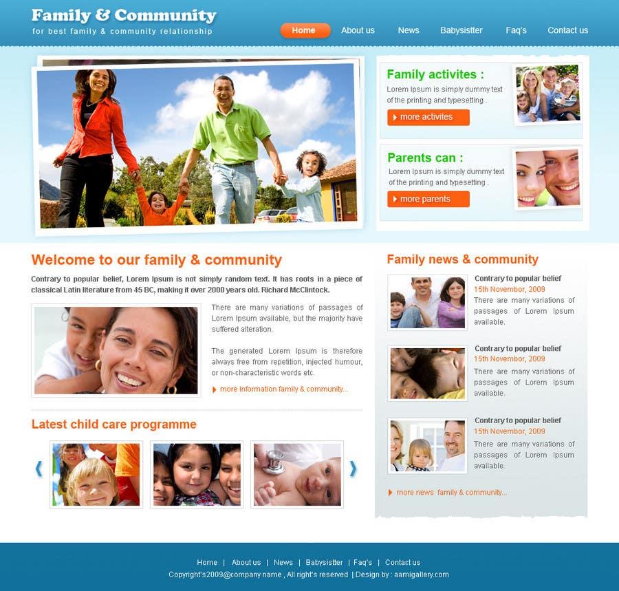Konkurrenceindlæg #2 for Website Design for Happy Family e-zine