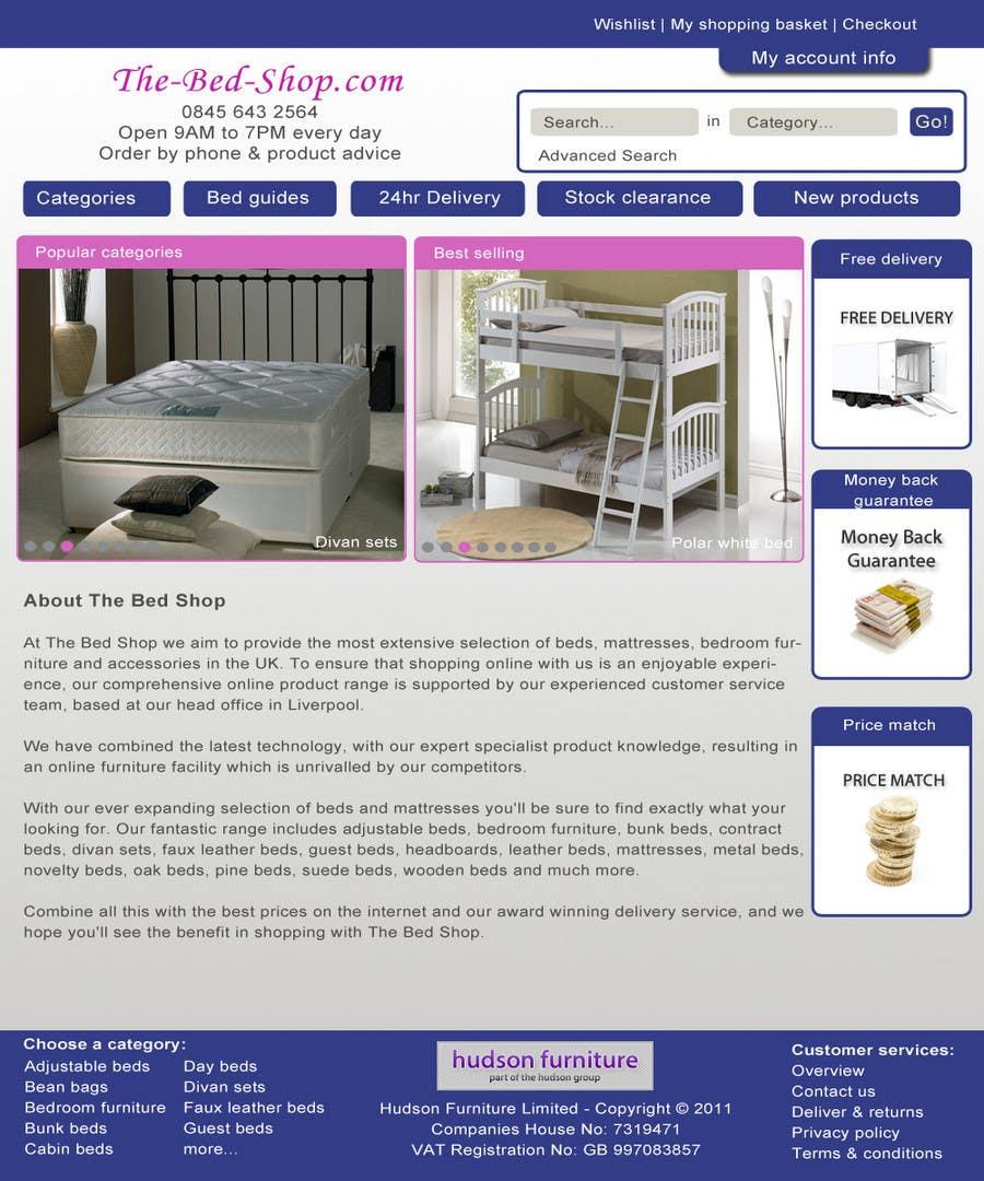 Конкурсная заявка №22 для Website Design for The Bed Shop (Online Furniture Retailer)