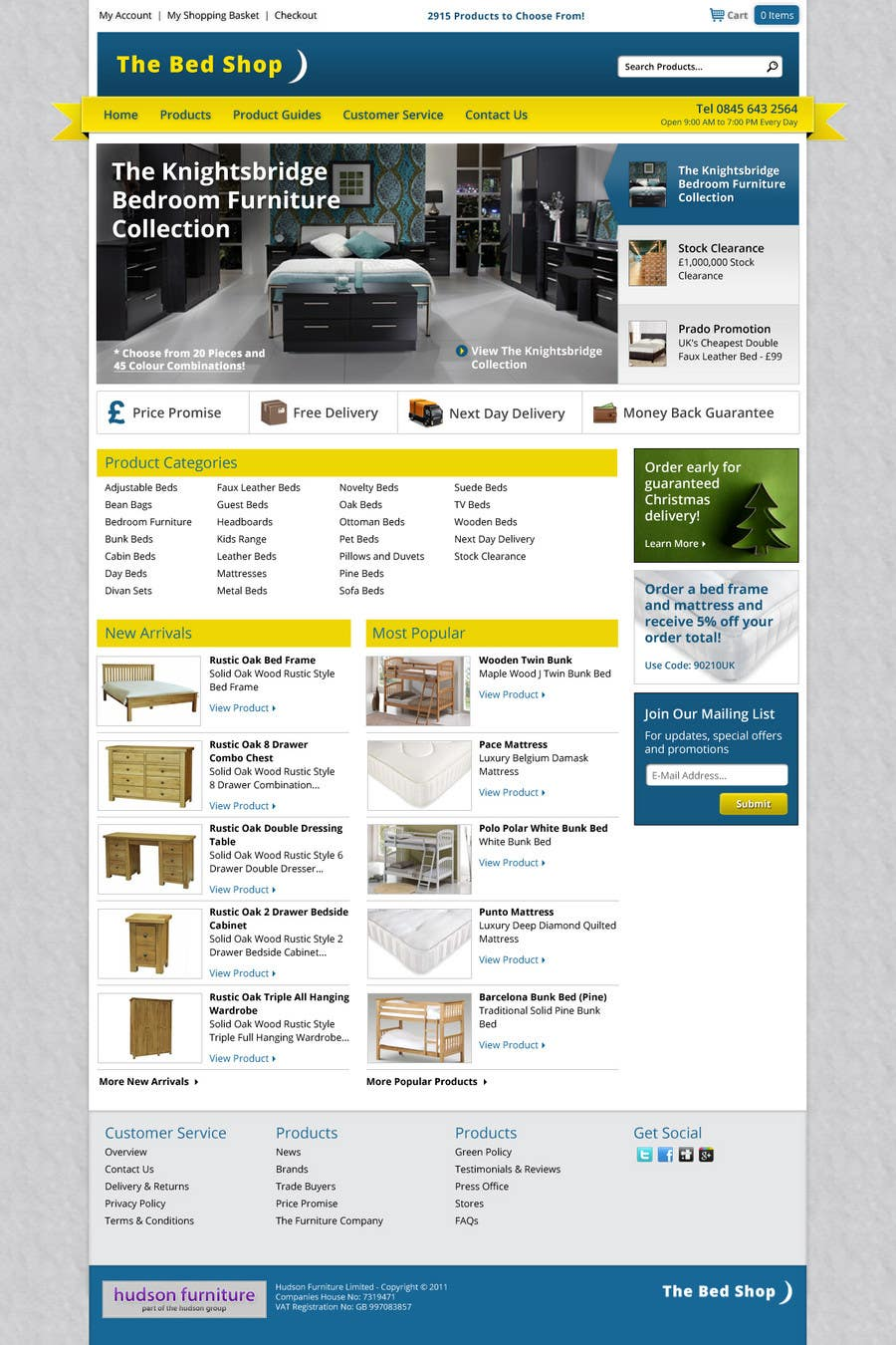 #40 for Website Design for The Bed Shop (Online Furniture Retailer) by wademd