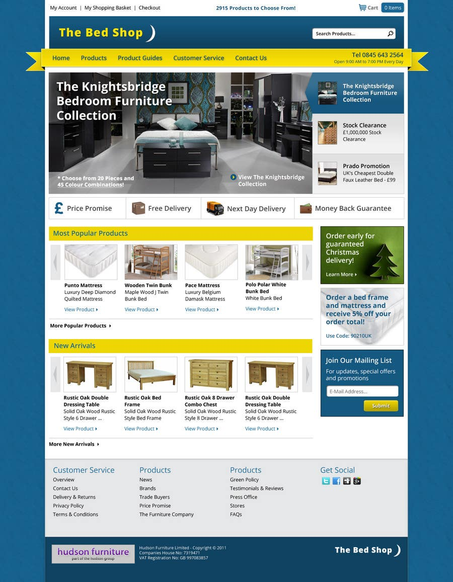 Contest Entry #43 for Website Design for The Bed Shop (Online Furniture Retailer)