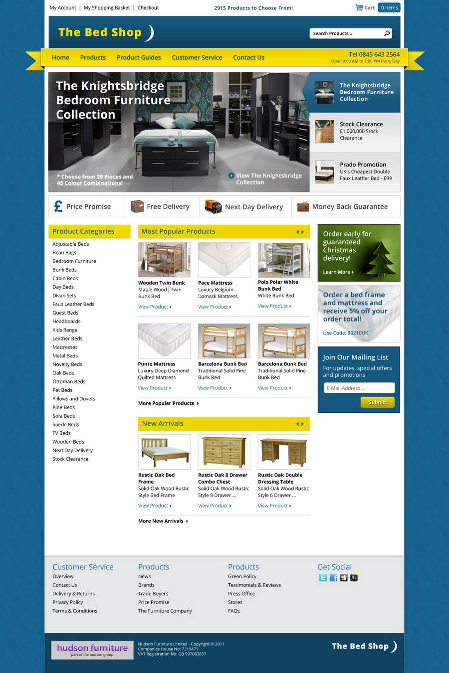 #42 for Website Design for The Bed Shop (Online Furniture Retailer) by wademd