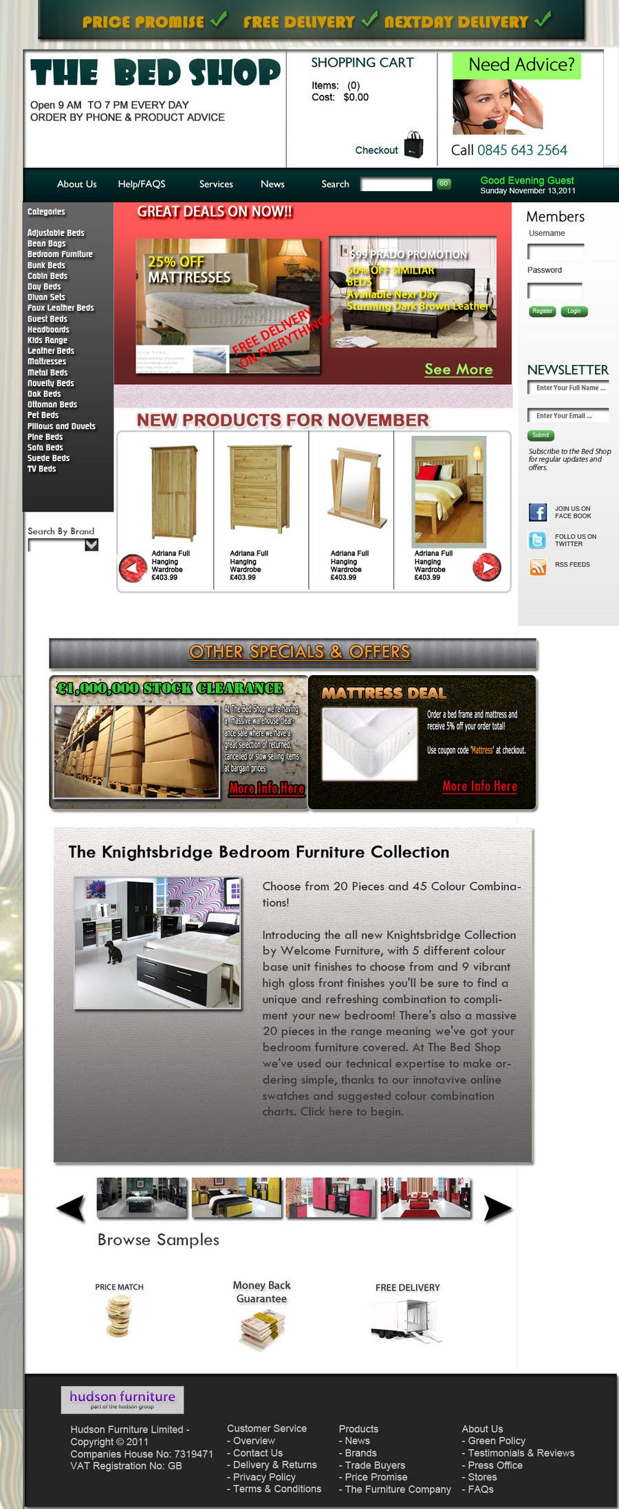 Proposition n°57 du concours Website Design for The Bed Shop (Online Furniture Retailer)