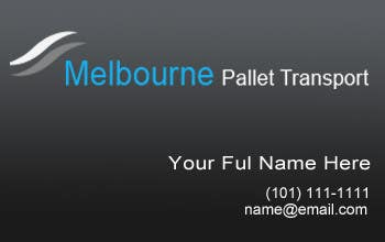#8 for Design some Business Cards for Melbourne Pallet Transport by rusale