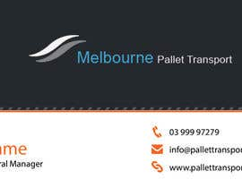 nº 24 pour Design some Business Cards for Melbourne Pallet Transport par preethyr