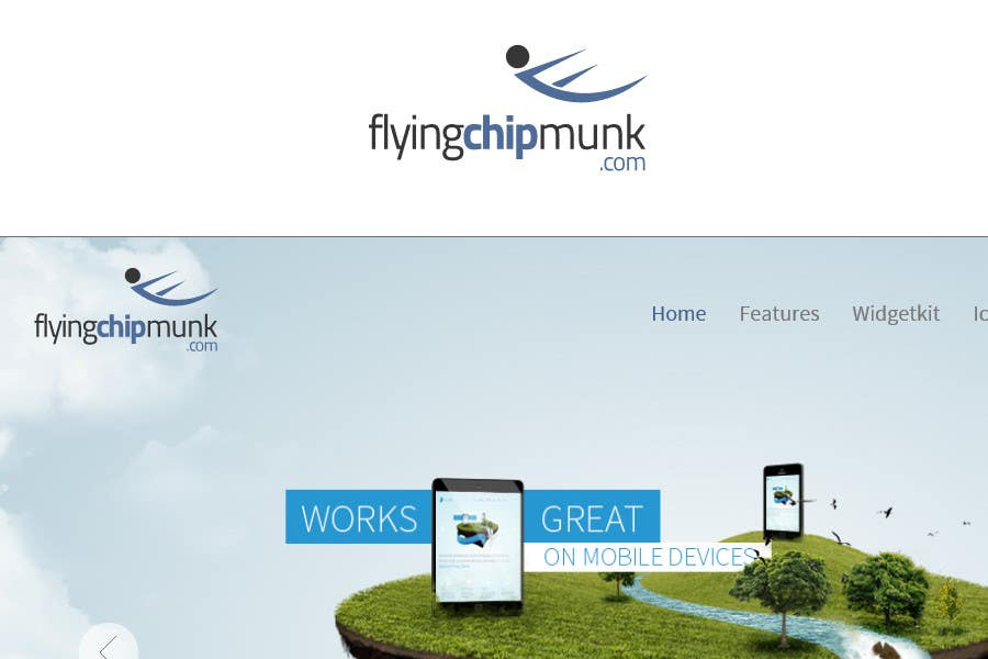 #107 for Design a Logo for skydive wingsuit site by commharm