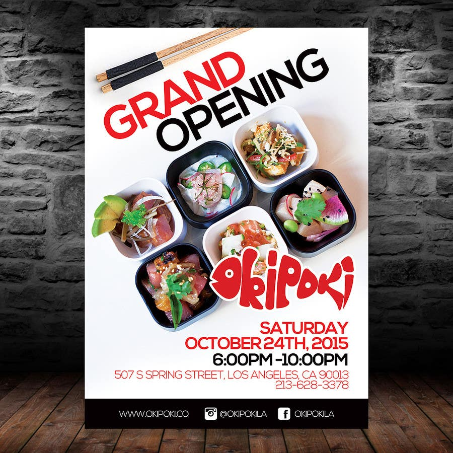 Exceptionnel Entry #14 by intanamir79 for Design Restaurant GRAND OPENING Flyer  RS51