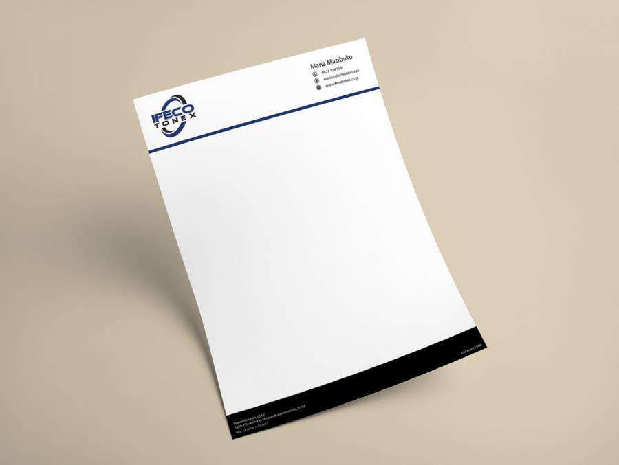 Entry #1 by foryoudesigners for Design a letterhead and Business ...