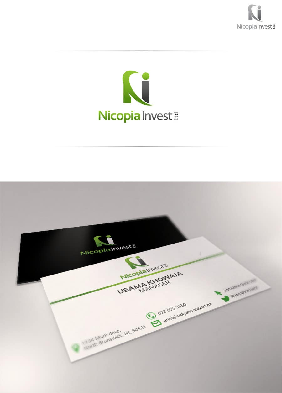 #44 for Designa en logo for Nicopia Invest Ltd by usamakhowaja1